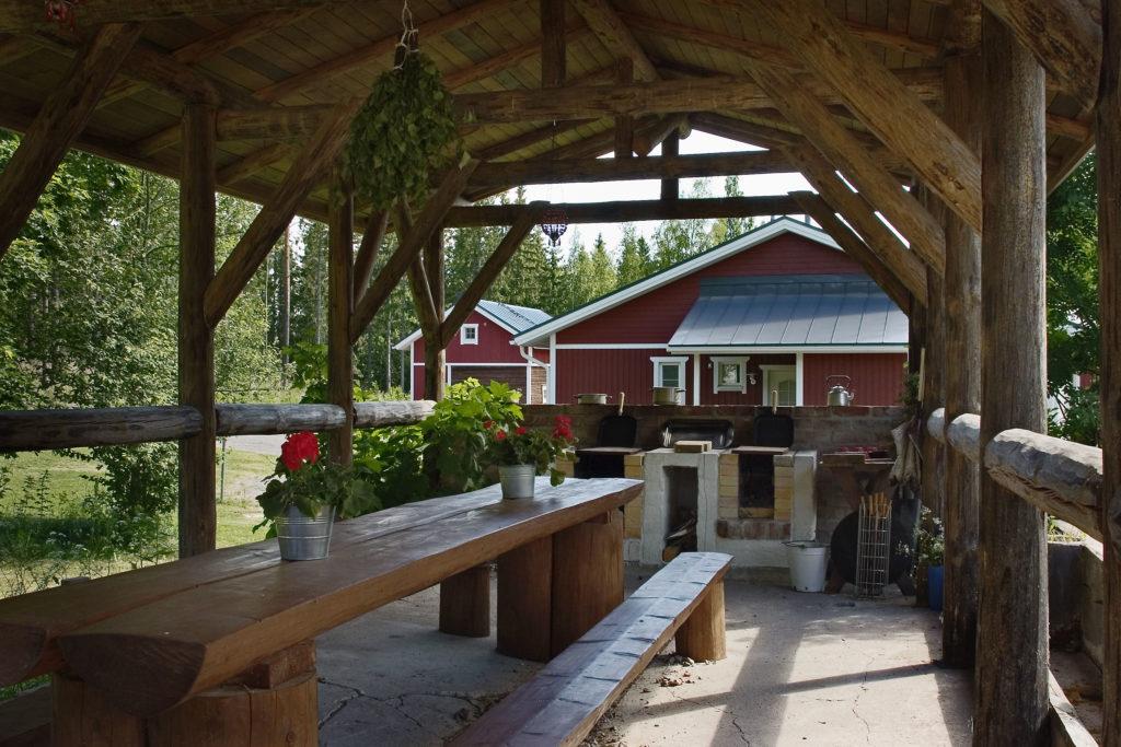 ヤナッカラ 夏のパーティー、屋根付き屋外テラス、個別、自分の平穏